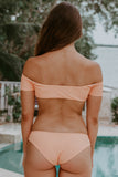 Poppy Orange Off The Shoulder Bikini Set