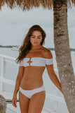 Poppy White Off The Shoulder Bikini Set