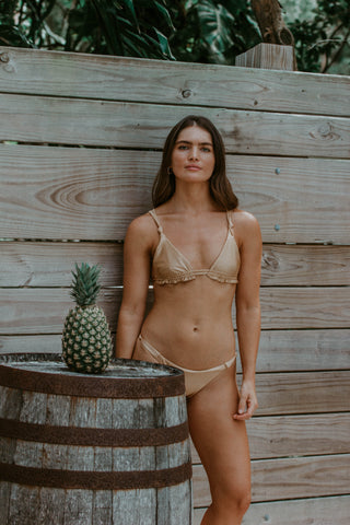 Poppy Green Wildflower Off The Shoulder Bikini Set