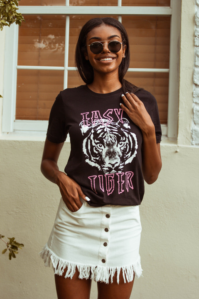 Easy Tiger Black Graphic Tee