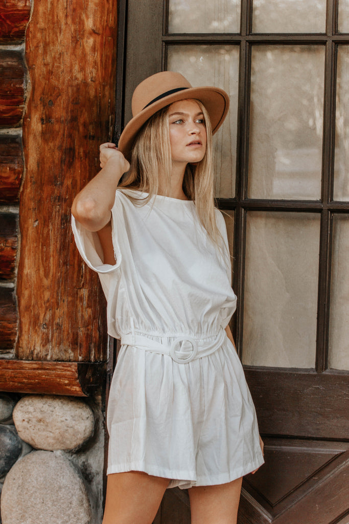 Girl On The Move White Romper