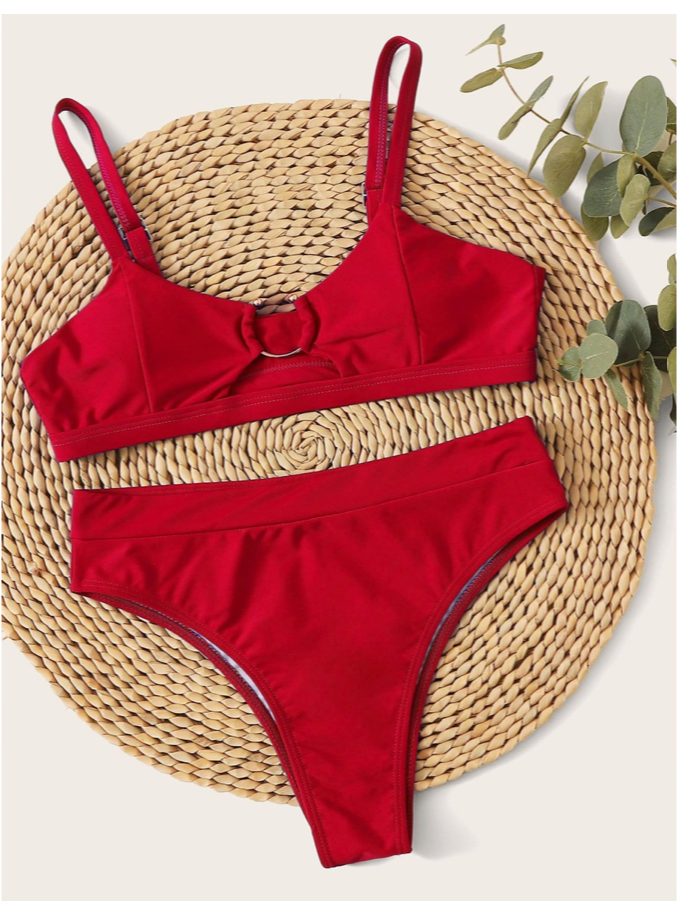 Gone Girl Red Bikini Set