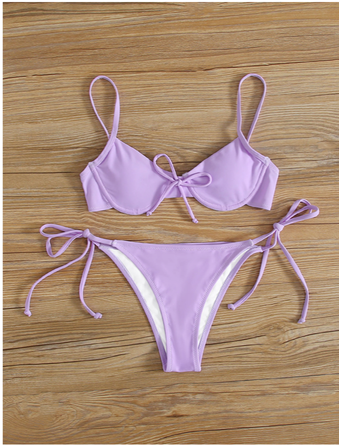 Cancun Purple Bikini Set