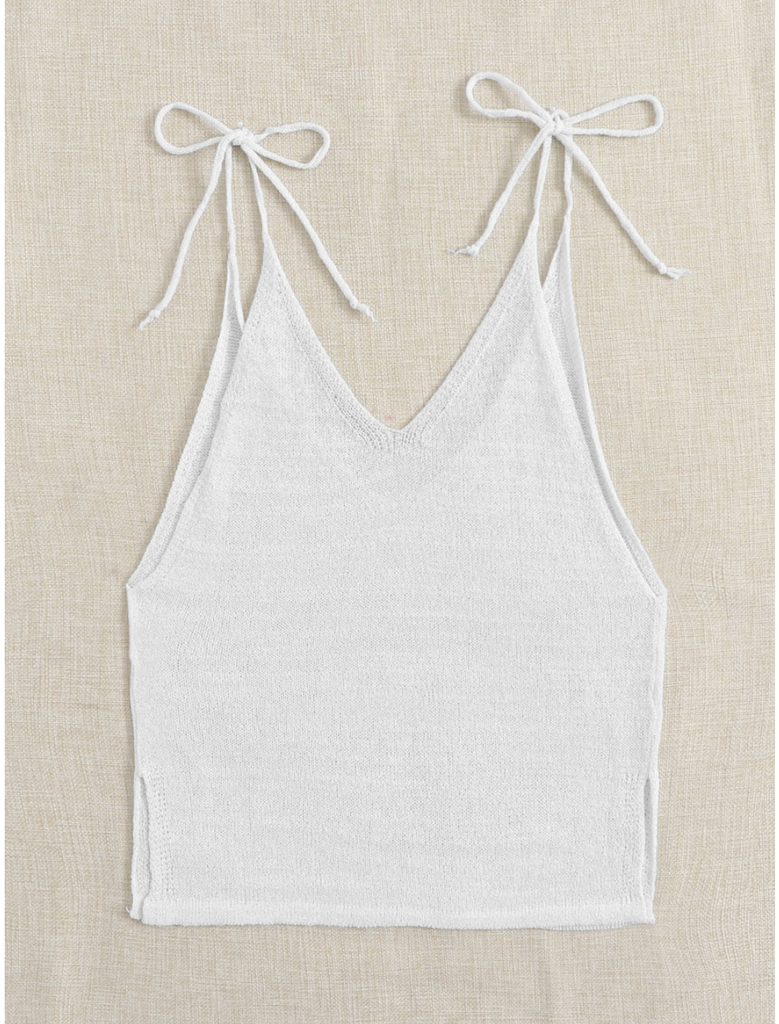 Siesta Key White Knit Tank