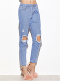 Denim Knee Ripped Jeans