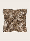 Leopard Pattern Pleated Bandana