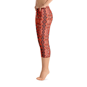 Red Sneaky One Low-Rise Capri