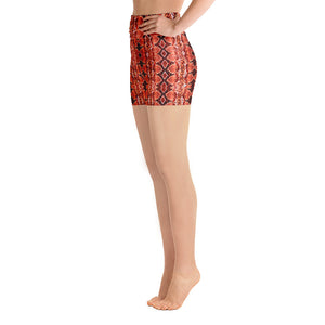 Red Sneaky One Yoga Shorts