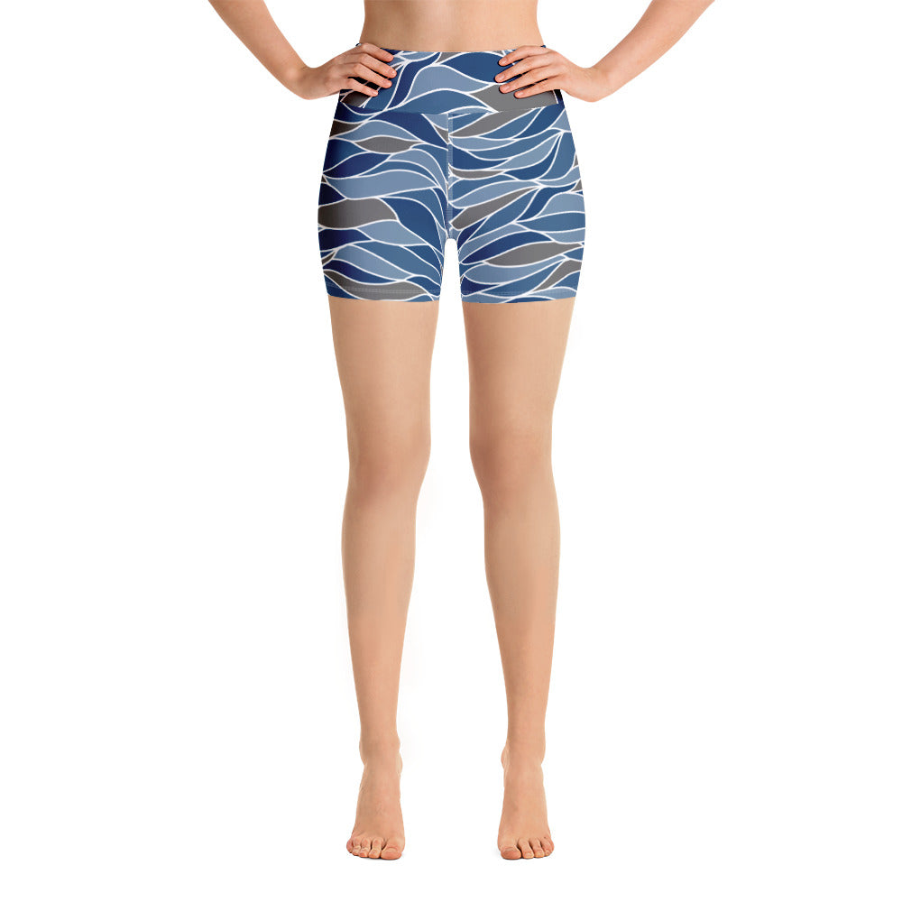 Ocean Waves Yoga Shorts