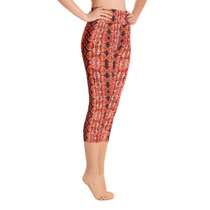 Red Sneaky One Yoga Capris