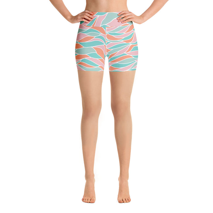 Crashing Waves Yoga Shorts