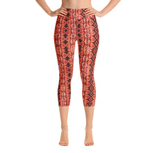 Load image into Gallery viewer, Red Sneaky One Yoga Capris