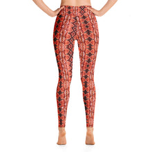 Load image into Gallery viewer, Red Sneaky One Yoga Leggings