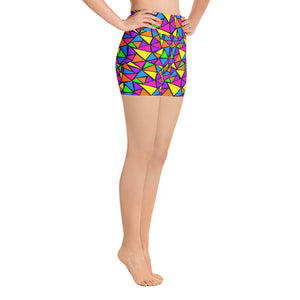 Neon Dreams Yoga Shorts