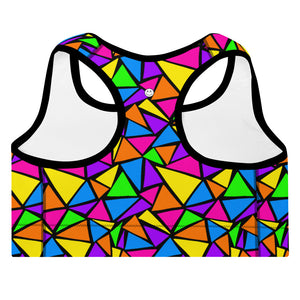 Neon Dreams Sports Bra
