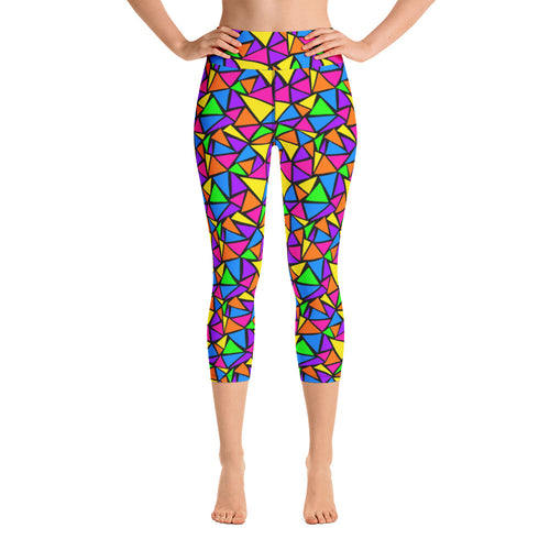Neon Dreams Yoga Capris