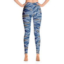 Load image into Gallery viewer, Ocean Waves Yoga Leggings