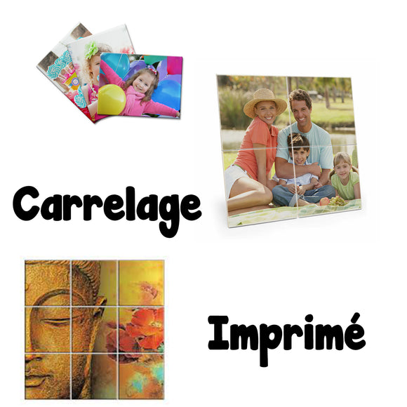 Carrelage photo imprimé