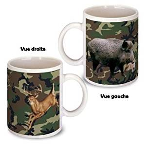 Mug Chasse chasseur sanglier cerf