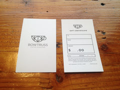 Bow Truss Gift Card
