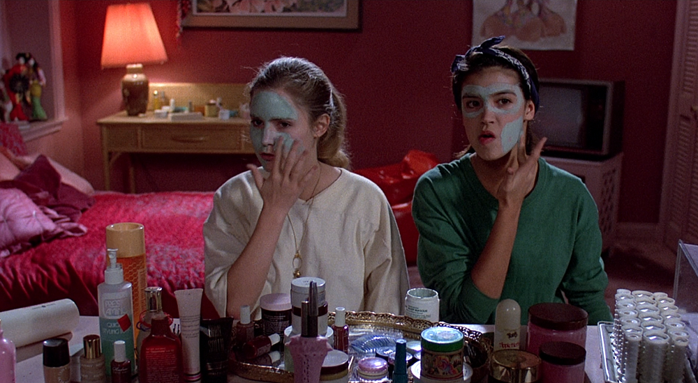 Skincare and face masks on Fast Time at Ridgemont High