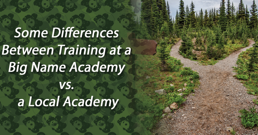 Some Differences Between Training at a Big Name Academy vs.a Local Academy