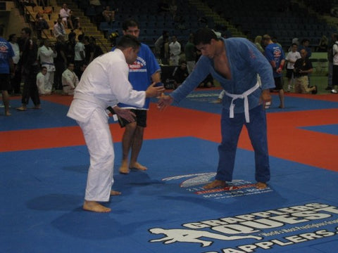 Nelson competing as a white belt