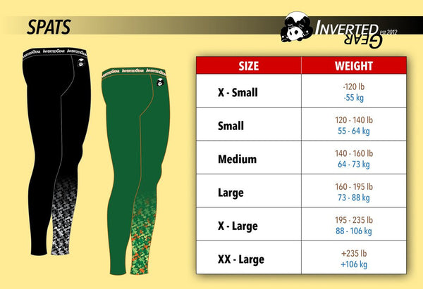 Size Charts – Inverted Gear