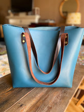 Load image into Gallery viewer, The York Tote - Teal/Blue