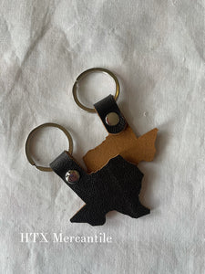 Texas Leather Key Ring