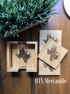 Bamboo Coaster - 4 set