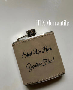 Hip Flask - Faux Leather