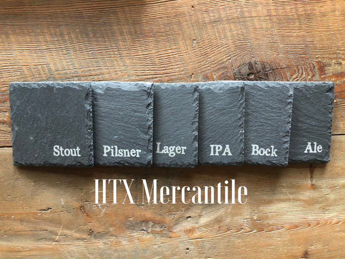 Beer Slate Coasters- set of 6