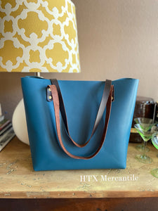 The York Tote - Teal/Blue