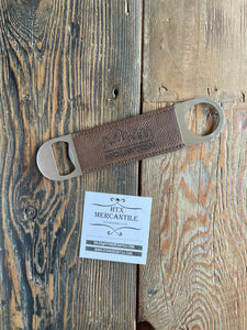 Speed Bottle Opener - Faux Leather Wrapped