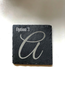 Monogrammed Slate Coasters - Set of 4
