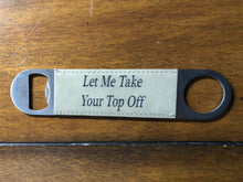 Load image into Gallery viewer, Speed Bottle Opener - Faux Leather Wrapped