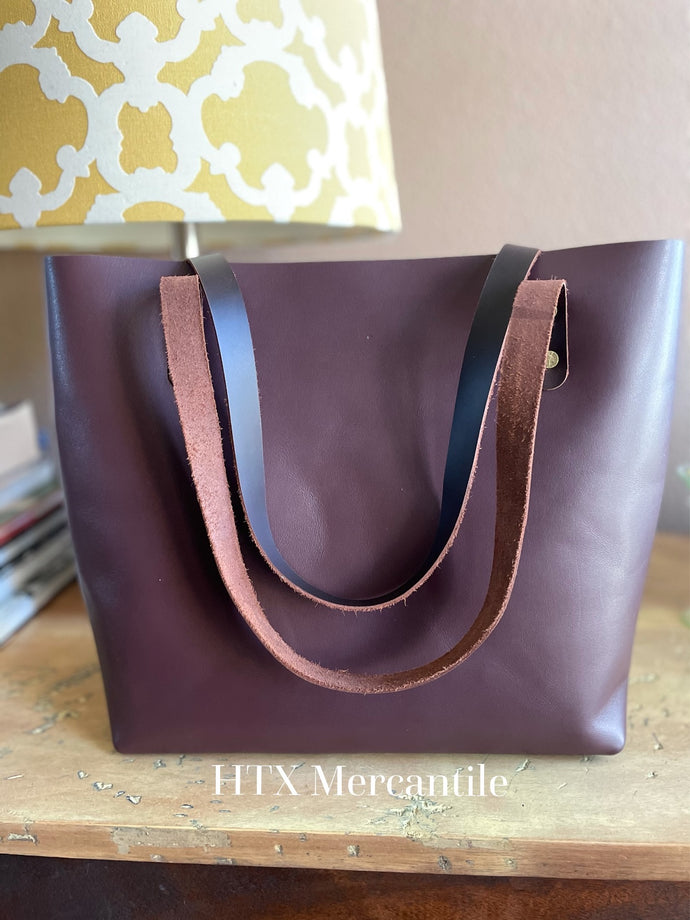 The York Tote - Plum