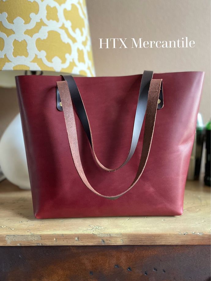 The York Tote - Brick Red