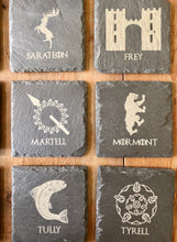Load image into Gallery viewer, Game of Throne Slate Coasters - set of 12