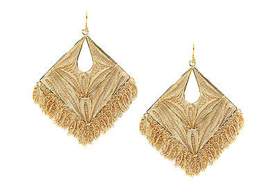 Filigree Square Drop Earrings