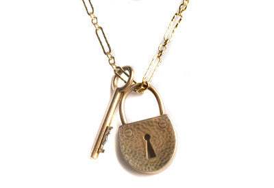 Key and Padlock Necklace