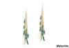 Beaded Short Fringe Earrings