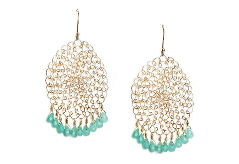Oval Woven Drop Earrings