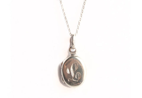 Small Engraved Oval Locket