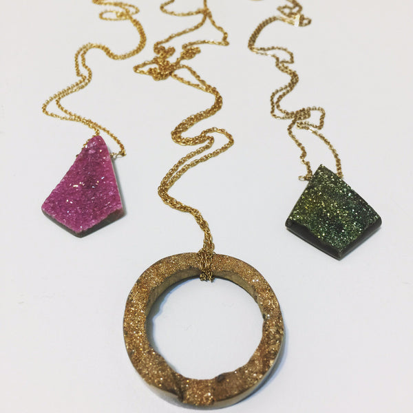 One of a Kind Druzy Necklaces