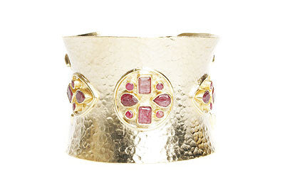 Hammered Ruby Cuff