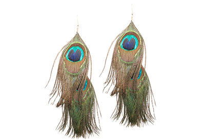 Double Peacock Earrings