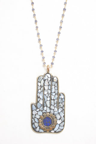 Shell Mosaic Hand Necklace