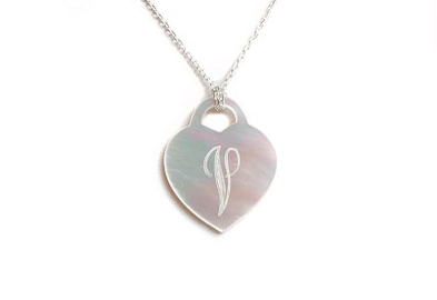 Heart Engraved Shell Necklace